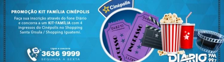 Promoção Férias - Diário c 4 convites Cinema